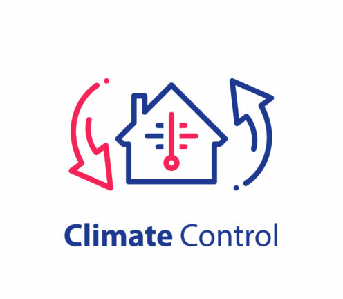 House climate control system, change temperature, home air conditioning, cooling or heating